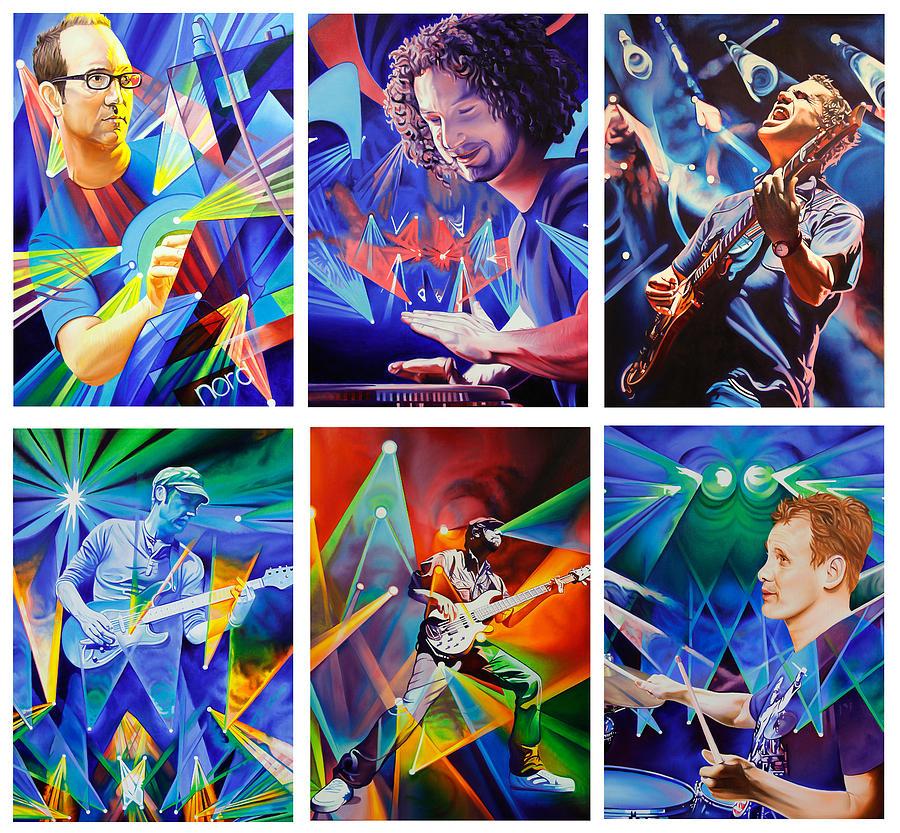 Music Painting - Umphreys Mcgee by Joshua Morton