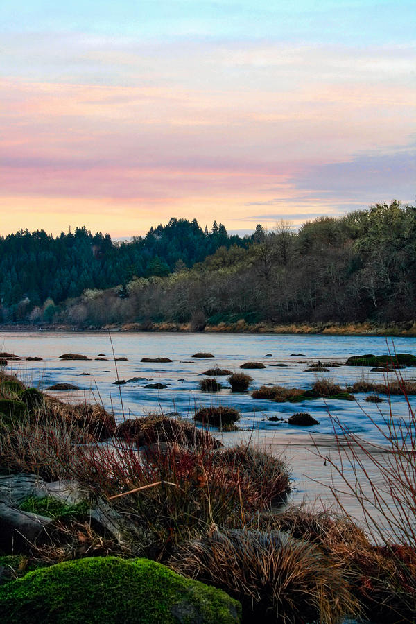 Umpqua River Photograph - Umpqua Sunset by Pamela Winders