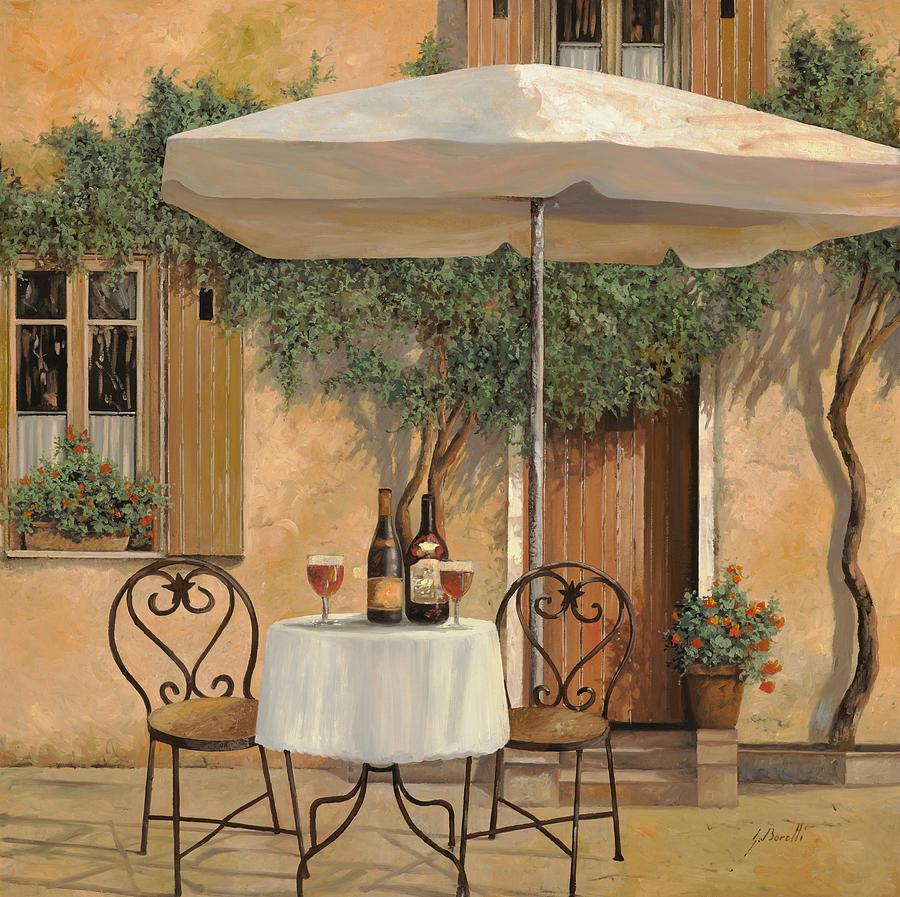 Chianti Painting - Un Altro Bicchiere Prima Di Pranzo by Guido Borelli