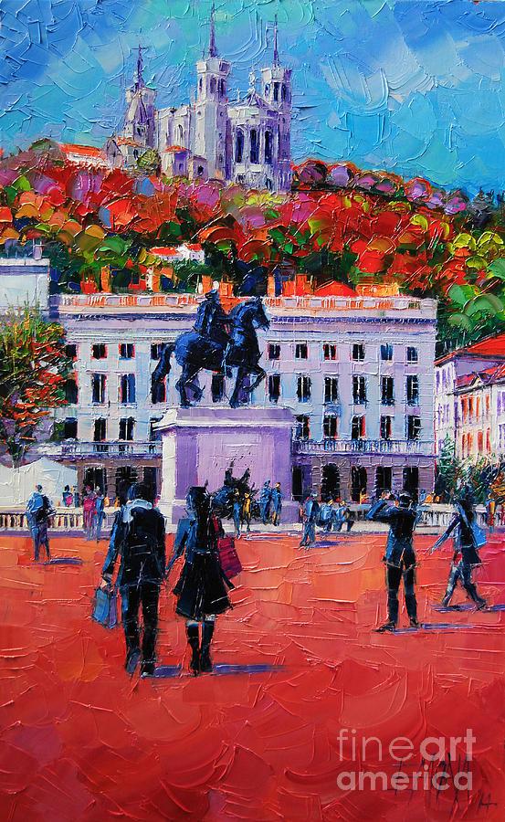 Bellecour Painting - Un Dimanche A Bellecour by Mona Edulesco