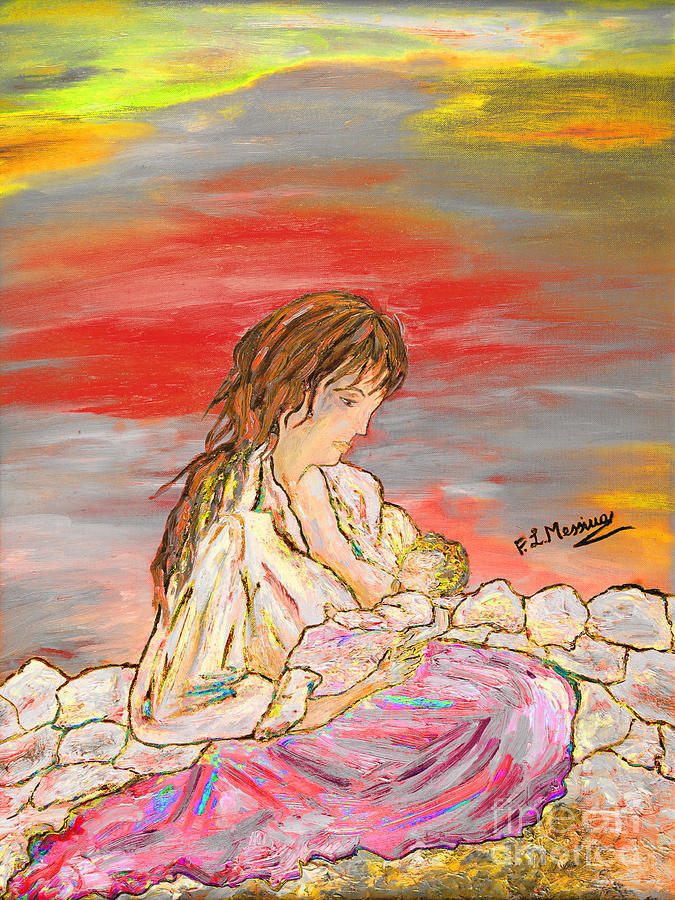 Drawing Painting - Un Pensiero Costante by Loredana Messina