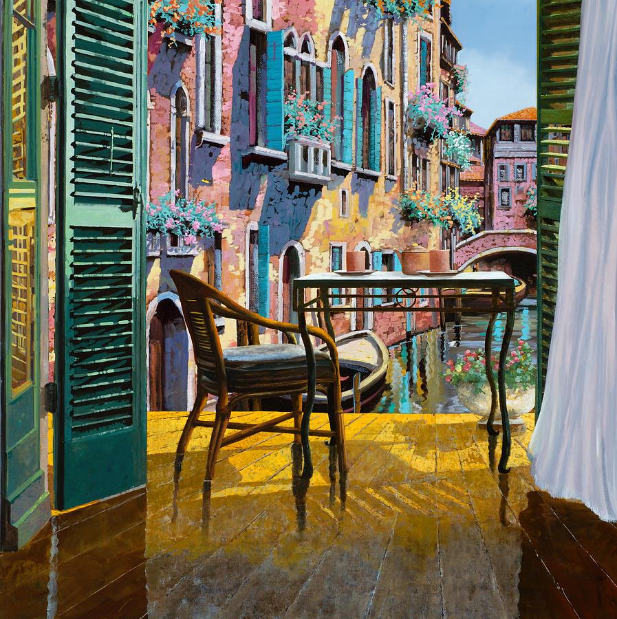 Un soggiorno a venezia painting by guido borelli for Soggiorno a venezia economico