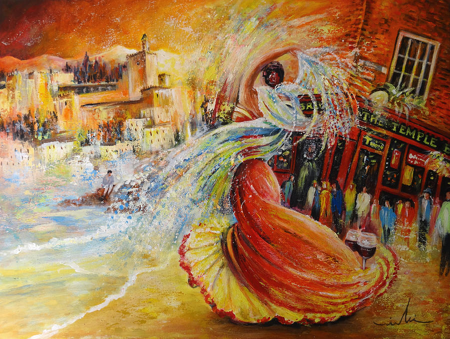 Travel Painting - Una Vida by Miki De Goodaboom
