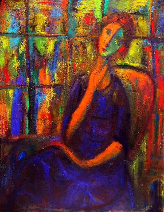 Women Painting - Unawares II by Marina R Burch