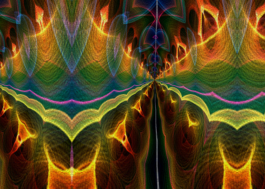 Flame Fractal Digital Art - Unbalanced Mind by Owlspook