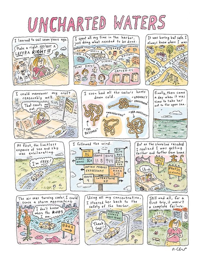 uncharted Waters Drawing by Roz Chast