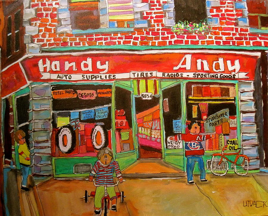 Montreal Canadiens Painting - Uncle Daveys Handy Andy by Michael Litvack