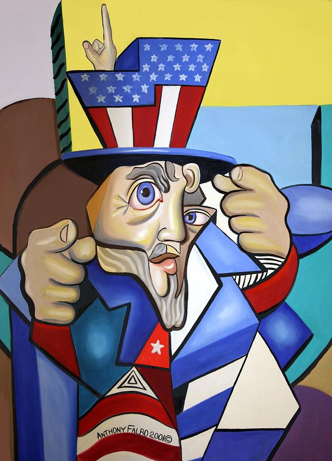 Anthony Falbo Painting - Uncle Sam 2001 by Anthony Falbo