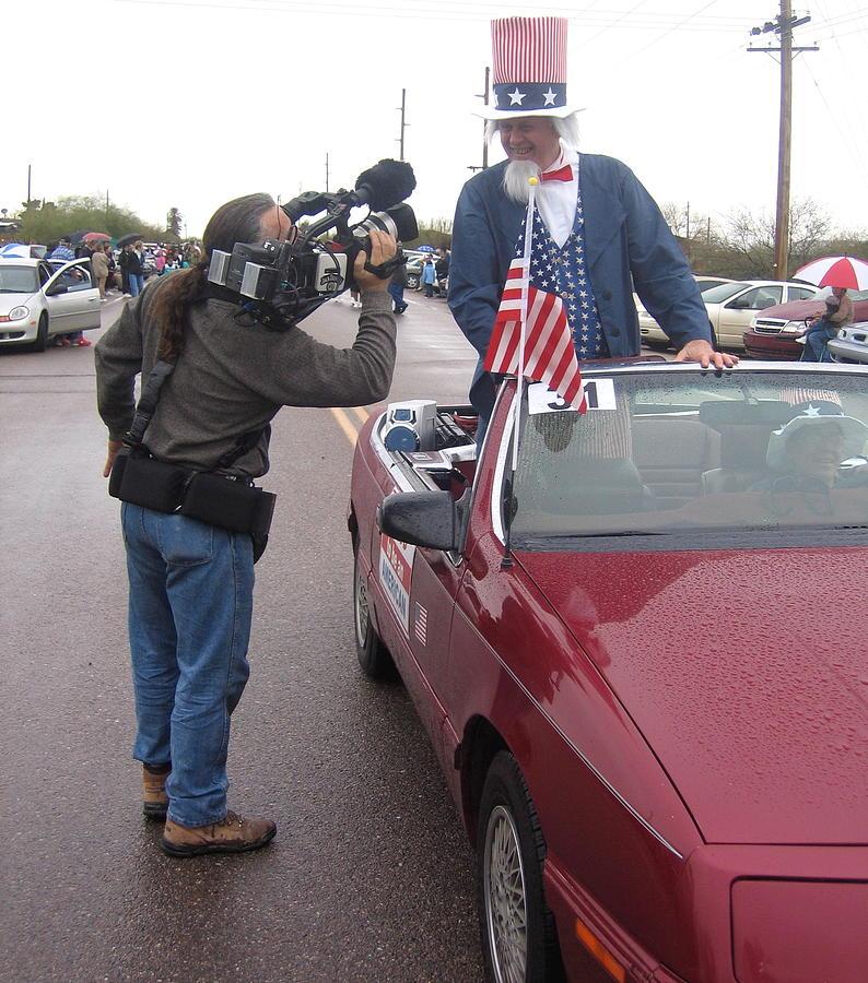 Uncle Sam Getting His Close-up Parade Sacaton Arizona 2005 Photograph