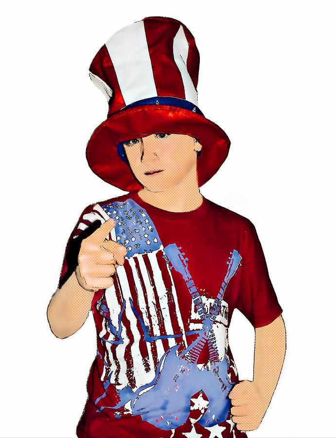 Boy Photograph - Uncle Sam by Susan Leggett