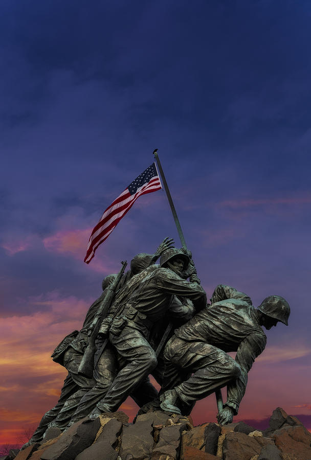 American Flag Photograph - Uncommon Valor Was A Common Virtue by Susan Candelario