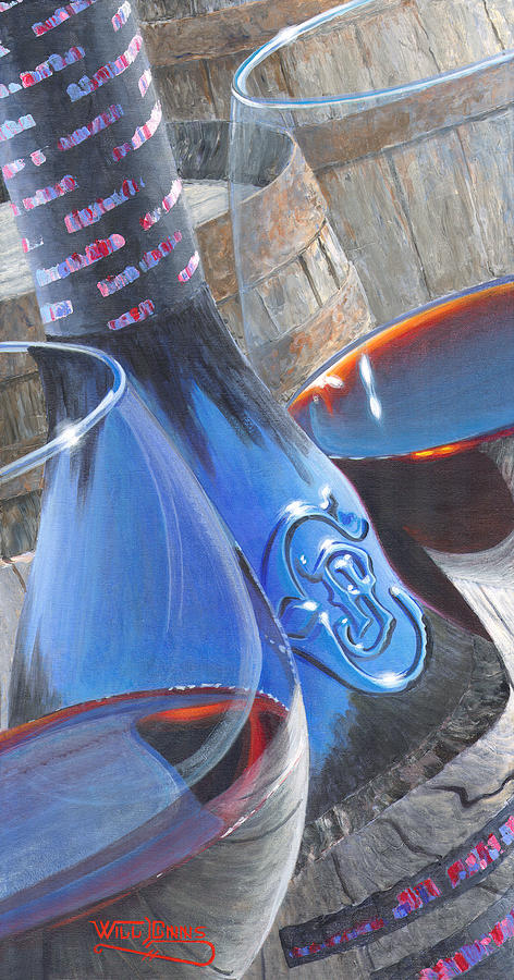 Wine Bottle Painting - Uncorked II by Will Enns