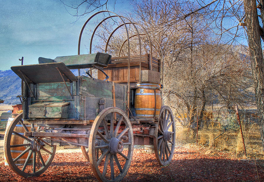 Wagon Photograph - Uncovered Wagon by Donna Kennedy