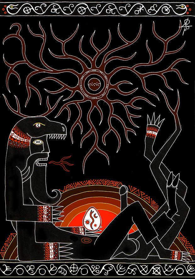 Slavic Mythology Digital Art - Under a nut bush by Maxim Sukharev