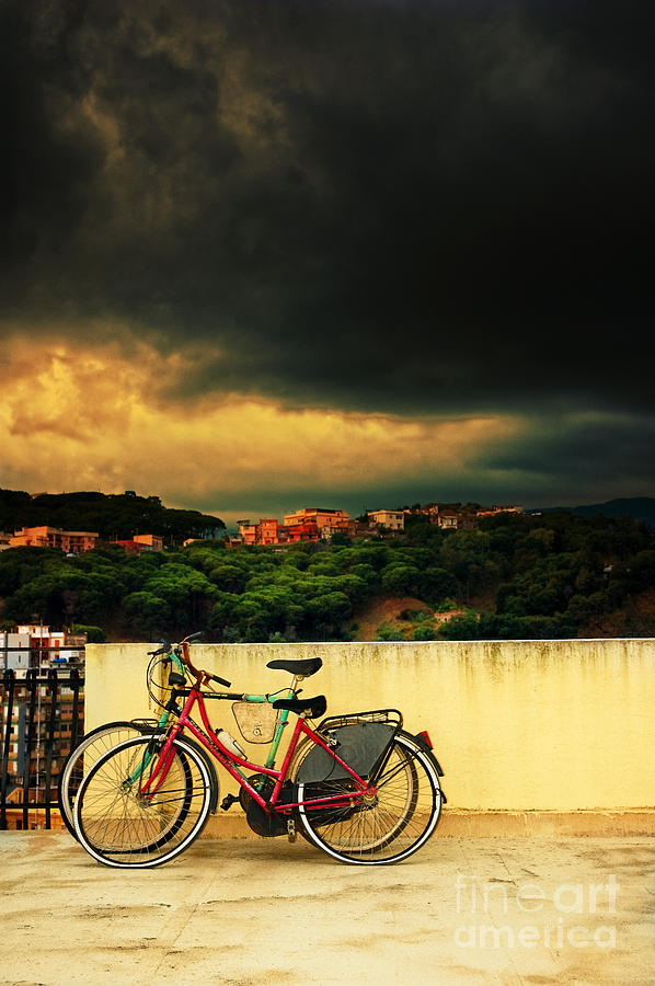 Moody Photograph - Under An Ominous Sky by Silvia Ganora