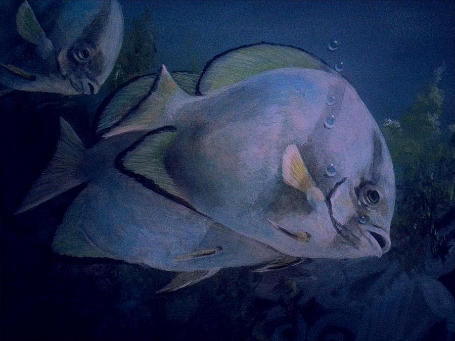 Schools Fish Painting - Under Blue. by Ruben  Llano
