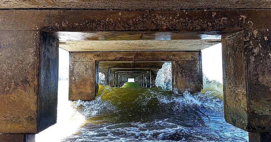 Under Hanalei Pier by Michael Yeager