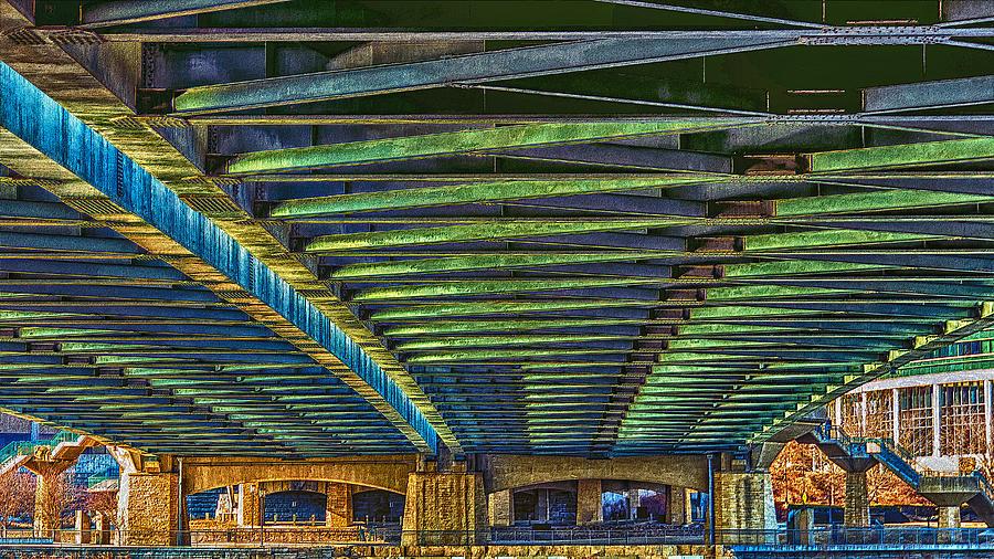 Bridge Photograph - Under Hennepin Avenue Bridge by Bill Tiepelman