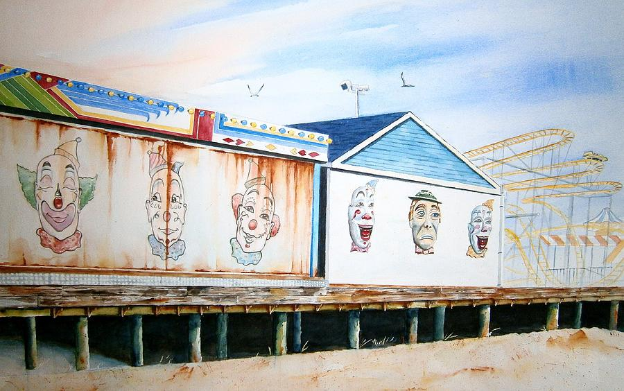 Clowns Painting - Under The Boardwalk by Brian Degnon