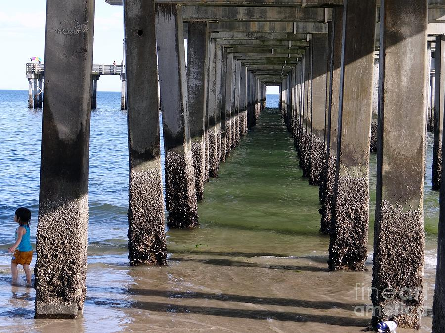 Water Photograph - Under The Boardwalk by Ed Weidman