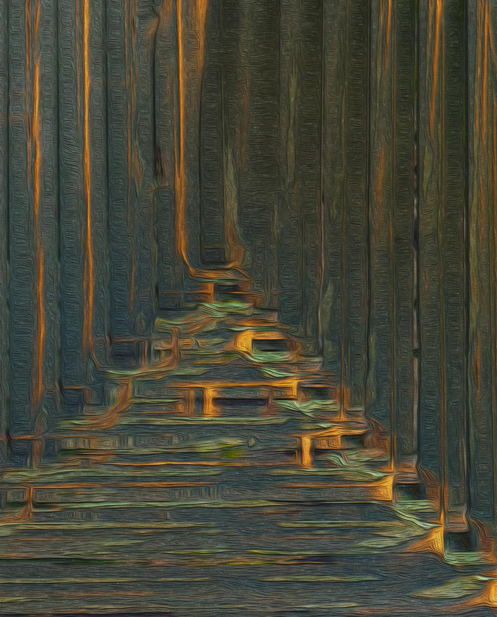 Digital Painting - Under The Boardwalk by Jack Zulli