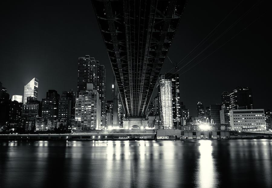 Nyc Photograph - Under The Bridge - New York City Skyline And 59th Street Bridge by Vivienne Gucwa