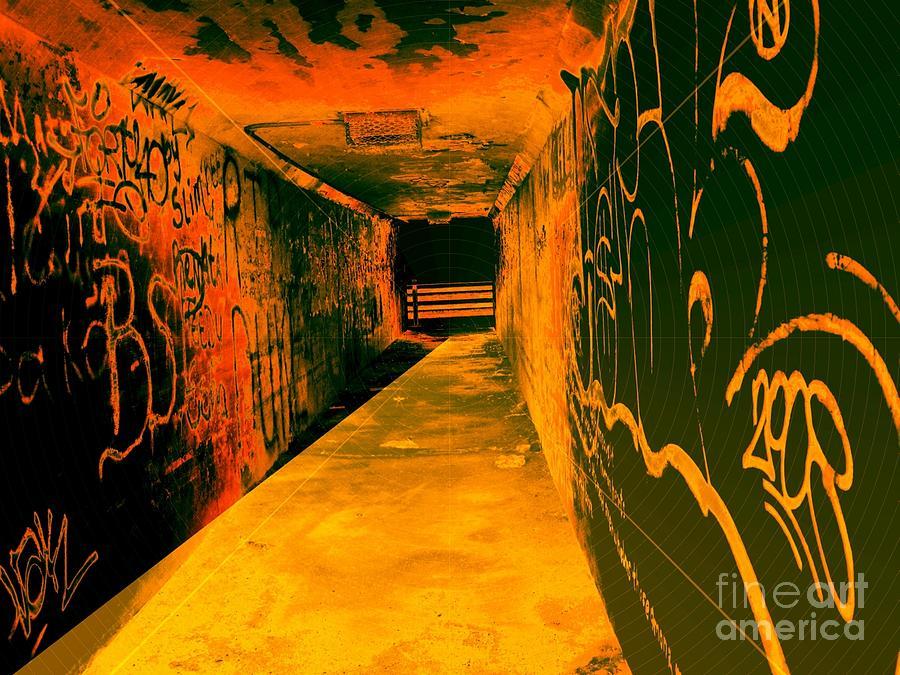 Tunnel Photograph - Under The Bridge by Ze DaLuz