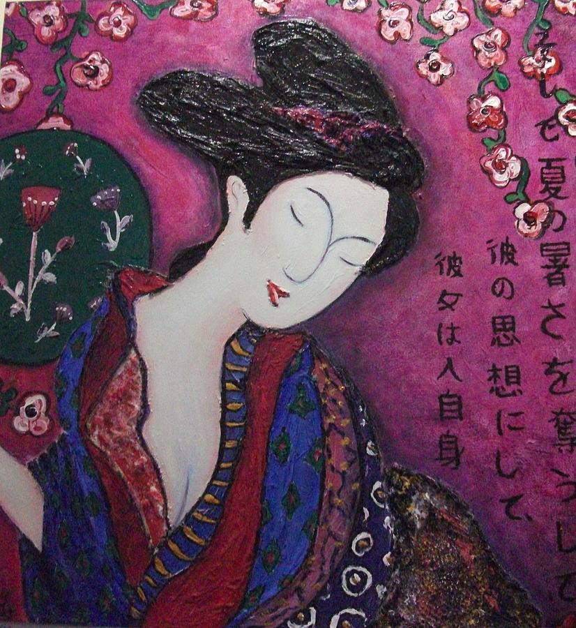 Geisha Painting - Under The Cherry Blossoms by Amy Wyatt