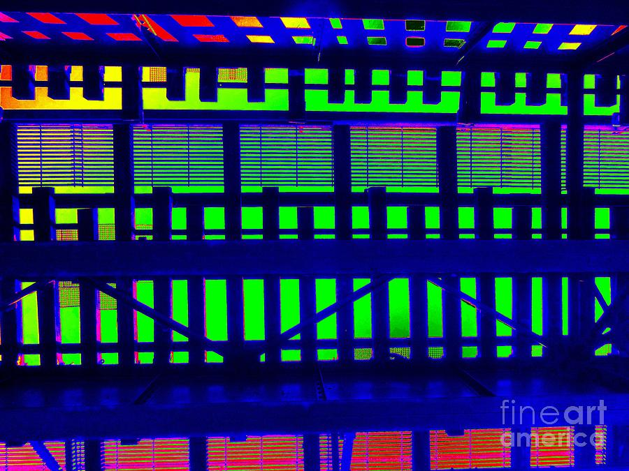 Abstract Photograph - Under The El Train by Ed Weidman