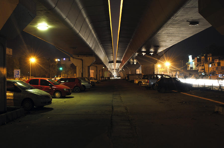 Cars Photograph - Under The Flyover  by Sumit Mehndiratta