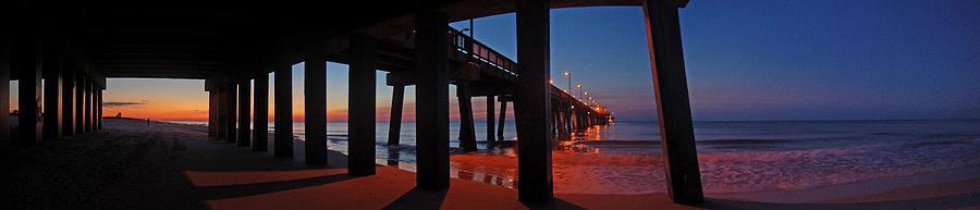Palm Digital Art - Under The Gulf State Pier  by Michael Thomas
