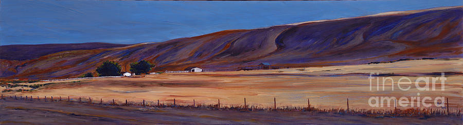 Landscape Painting - Under The Hills  1 by Betsee  Talavera