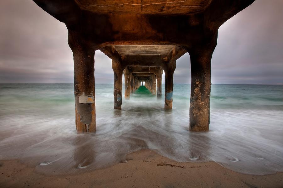 Under The Manhattan Beach Pier Photograph By Anthony Festa
