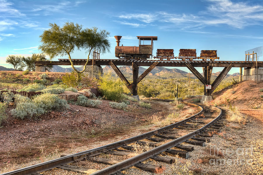Old Photograph - Under The Mining Cars by Eddie Yerkish
