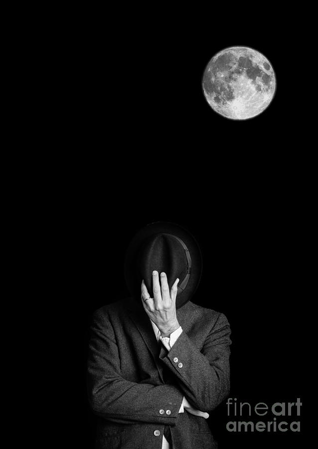 Man Photograph - Under The Moonlight The Serious Moonlight by Edward Fielding