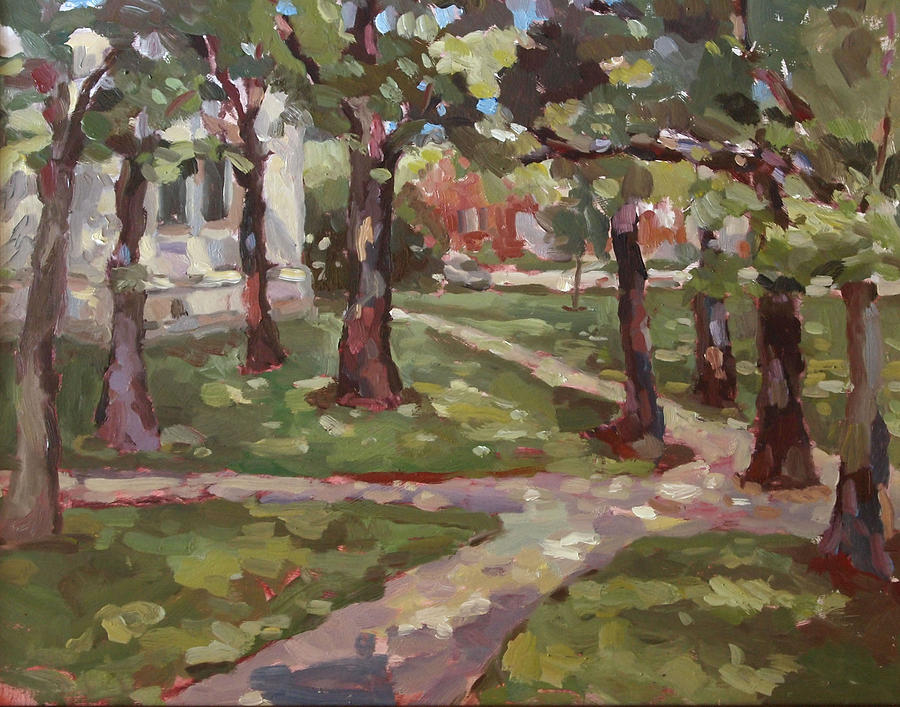 Landscape Painting - Under The Oaks by Jenny Anderson