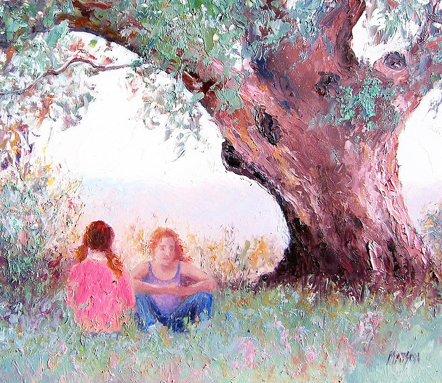 Landscape Painting - Under The Old Gum by Jan Matson