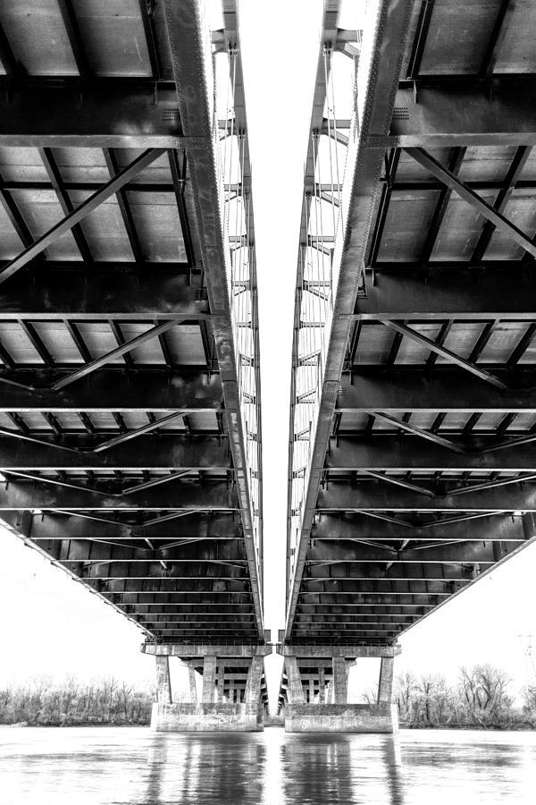 Bridge Photograph - Under The Page Bridge by Bill Tiepelman