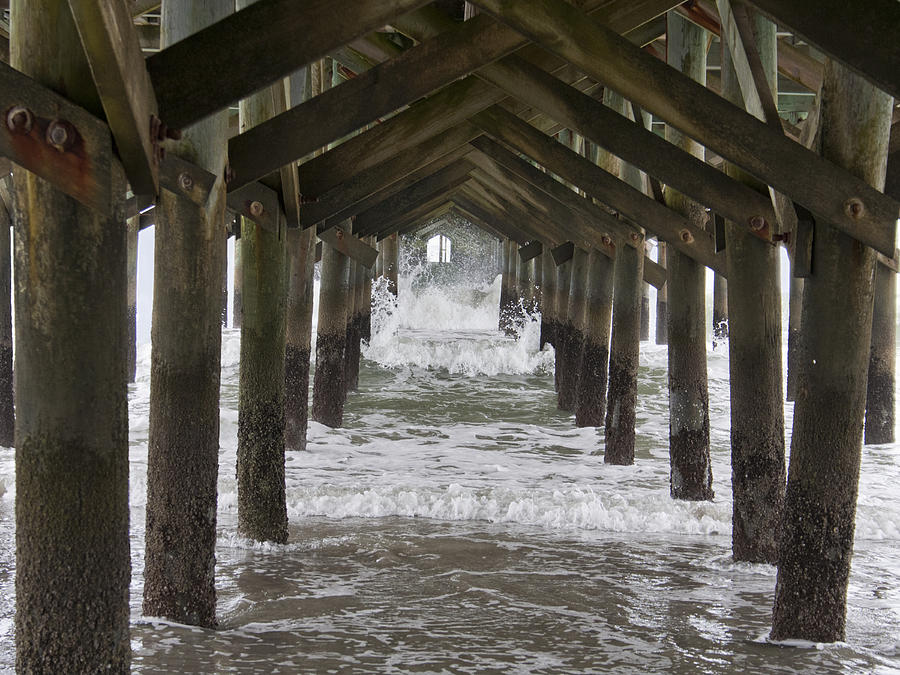 Pier Photograph - Under The Pawleys Island Pier by Sandra Anderson