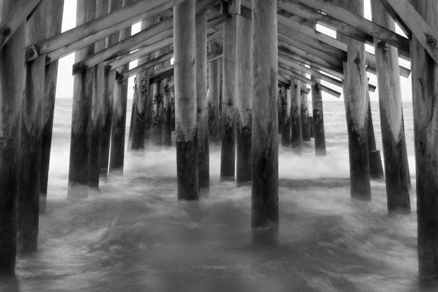 Under The Pier At Kure Beach Photograph