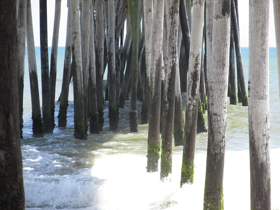 Ocean Photograph - Under The Pier by Cheryl Smith