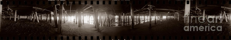 Under The Pier Photograph by Ron Smith