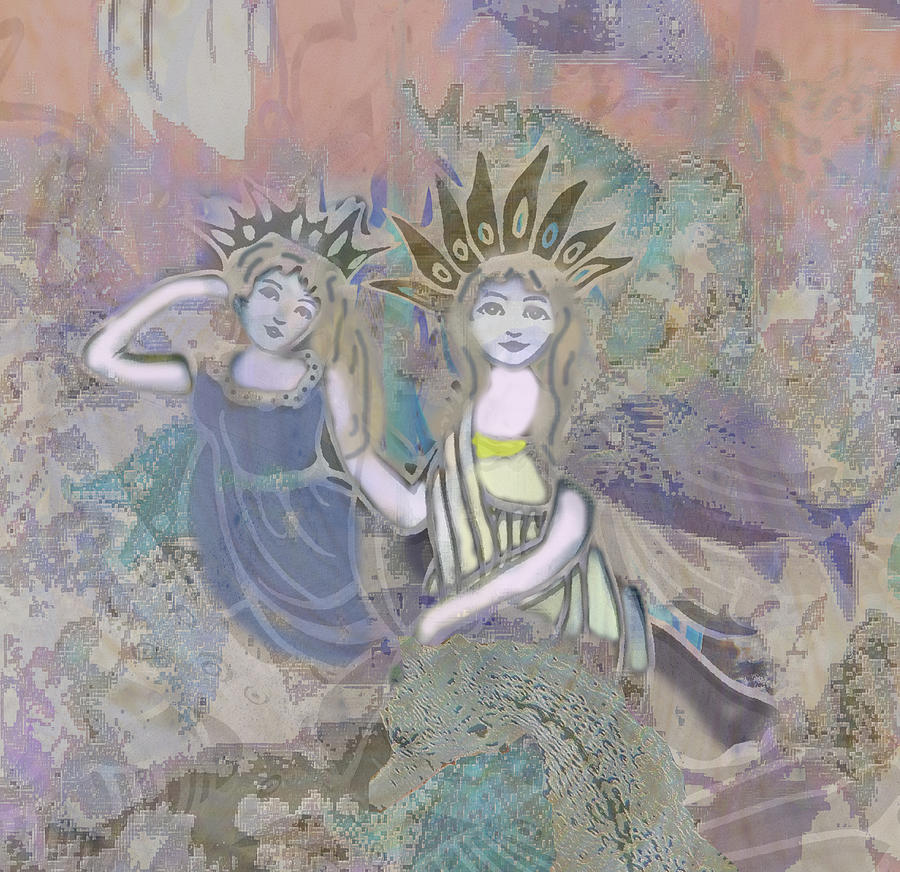 Angels Mixed Media - Under The Sea by Amelia Carrie