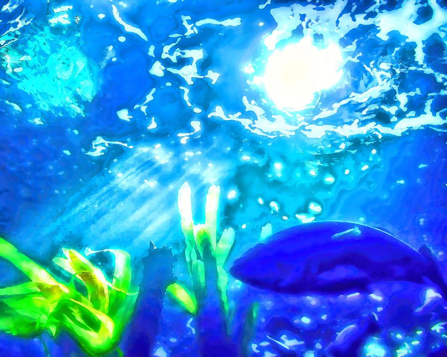 Under The Sea Painting - Under The Sea Illumination by Tracie Kaska