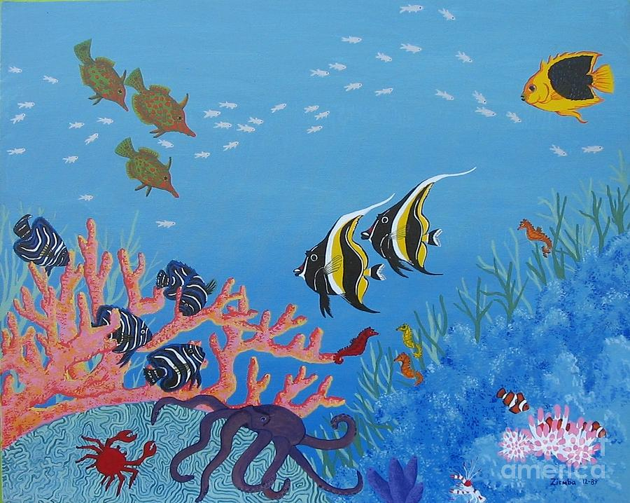 Under The Sea Painting by Lori Ziemba