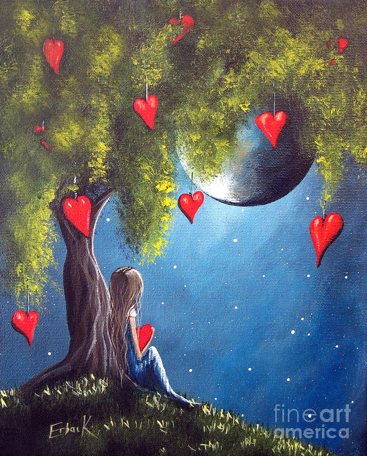 Girl Painting - Under The Tree Of New Beginnings By Shawna Erback by Erback Art