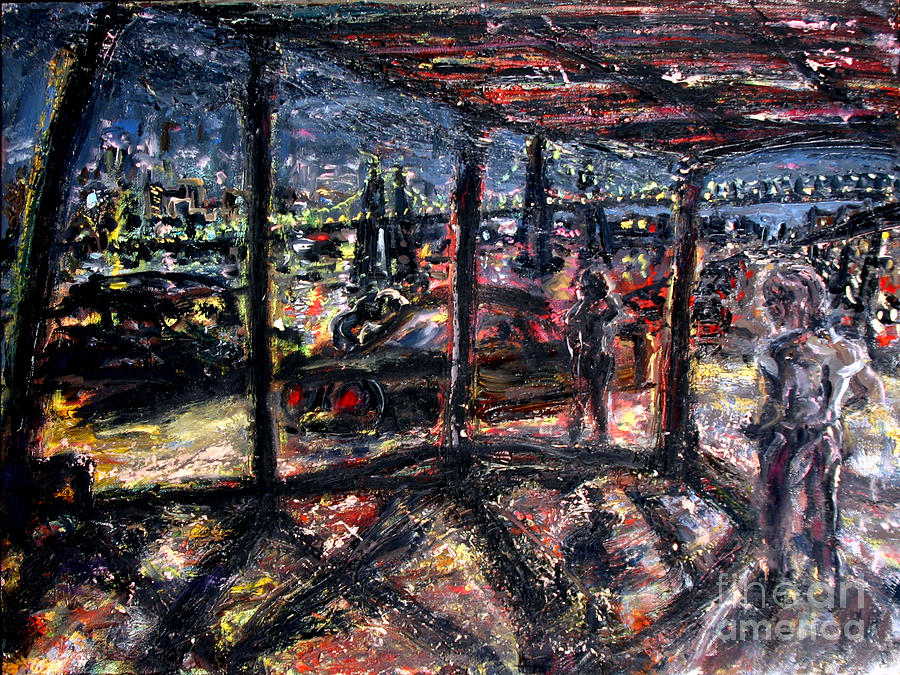 New York Painting - Under The Tressel On The West Side by Arthur Robins