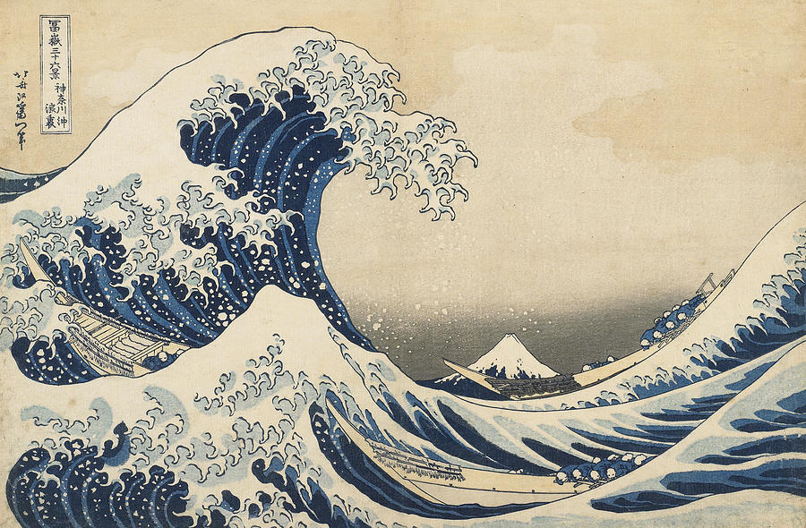 The Wave Painting - Under The Wave Off Kanagawa by Hokusai