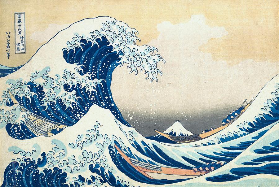 Edo Painting - Under The Wave Off Kanagawa by Katsushika Hokusai
