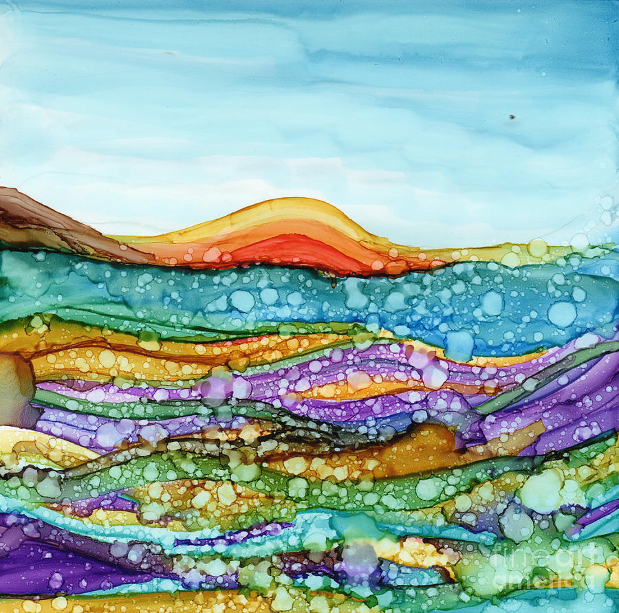 Rainbow Painting - Under Water by Carolyn Weir